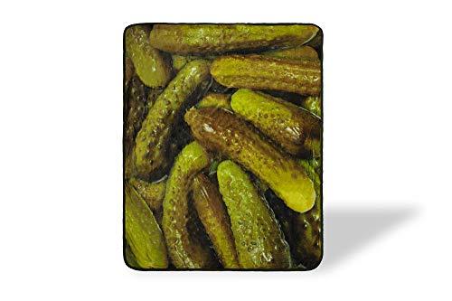 Pickles Fleece Throw Blanket | Large Soft Fleece Pickle Blanket | Food Blanket Soft Blankets And...