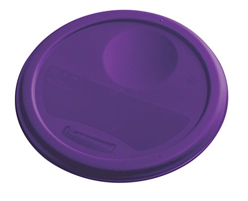 Rubbermaid Commercial Lid (Lid Only) for Round Food Storage Container, Fits 4 Qt. Containers, Purple (1980257)