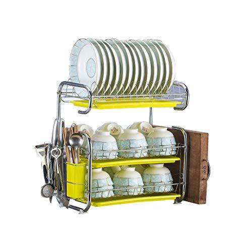 AMBH keuken plank benodigdheden voor het wassen en sluiten van planken, drie-tier afvoer schotelrekken keuken opslag Rack, Vaatwasser, servies, servies Rack, kast L20.02.24