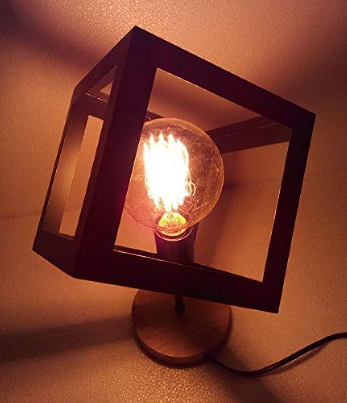 JINSH Home Moderne minimalistische LED-Schlafzimmer Lampe American Retro Studie Schmiedeeisen Kunst europäischen kreative Persönlichkeit Nachttischlampe (Farbe   schwarz) B07JNQ53LC       Verrückte Preis