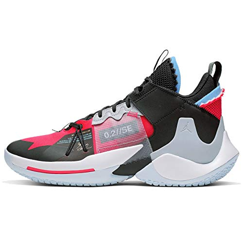 Nike Jordan Mens Why Not Zer0.2 Basketball Shoes (11, Red/Black)