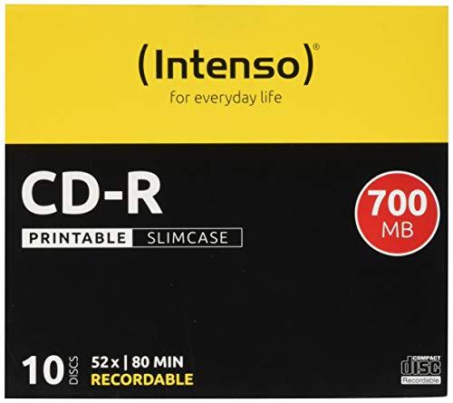 Intenso CD-R Printable Rohlinge, 700MB, 10 Stück