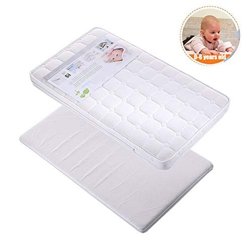 Learn More About HBIAO Crib Mattress Pad, Latex Coconut Palm Baby Mattress Winter and Summer Dual-Us...
