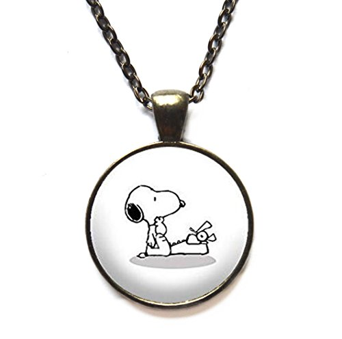 Snoopy and Typewriter Charm Necklace - Writer Gift - Book Lovers