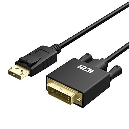 ICZI DisplayPort auf DVI Kabel 1,8m, Vergoldet 1080P HDTV DP auf DVI Verbindungskabel für HDTV, Projektoren und Monitore