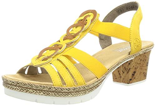 Rieker Damen V29F6 Sandale, Gelb, 40 EU