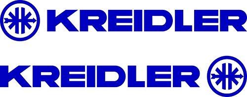 SUPERSTICKI 2X Kreidler Logo + tekst Motorcycle Sticker Bike Auto Racing Tuning High Performance Folie Sticker Tuning Sticker High Performance film voor alle gladde oppervlakken