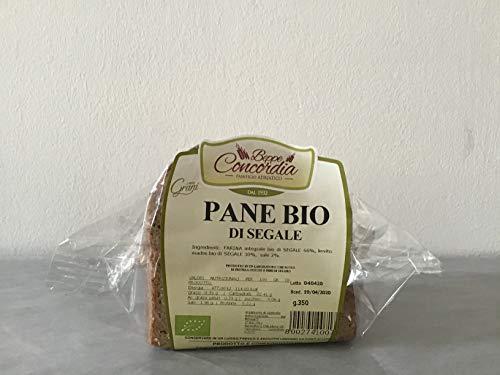 Pane biologico di Segale senza lievito di birra di Grani Antichi Pugliesi macinati a pietra - 3 confezioni da 350gr