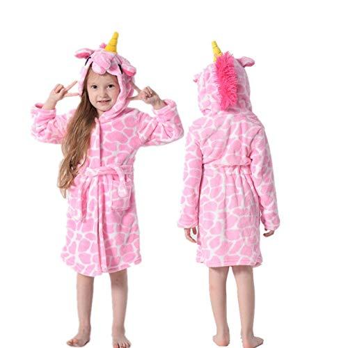 Kinder Bademantel Baby Handtuch Kinder Kapuzenbademäntel Für Jungen Mädchen Pyjama Kinder Nachtwäsche Robe 3-11T-Bright rainbow-3-4T