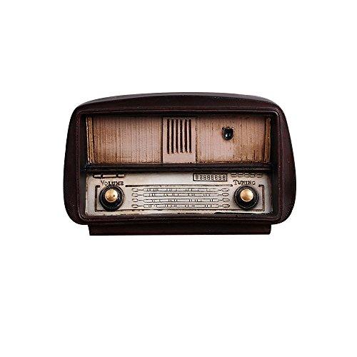 Tong Yue Retro - Radio nostálgica de resina para decoración de bares, cafeterías, decoración del hogar, accesorios hechos a mano