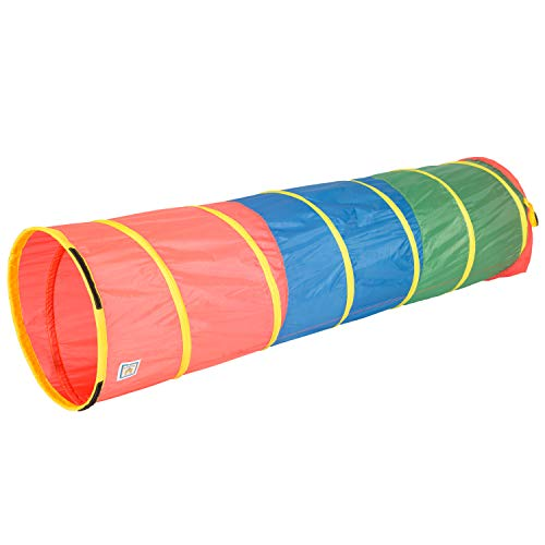 "Pacific Play Tents 21409 Kids 6-Foot Find Me Multicolor Crawl/Play Tunnel, 6' x 19"" Diameter, Multi Color"