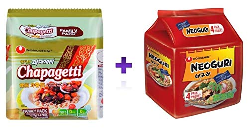 Chapaguri Pack (Chapaghetti 4ea + Neoguri Spice 4ea), Parasite Movie 짜파구리 (짜파게티 4 Packs + 너구리 4 Packs)