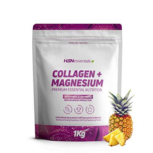 Colágeno Hidrolizado con Magnesio de HSN Essentials   Origen Bovino   Con Vitamina C   Cuidado de las Articulaciones, Salud para los Huesos, Piel, Cabello y Uñas   En Polvo - Sabor Piña, 1000g