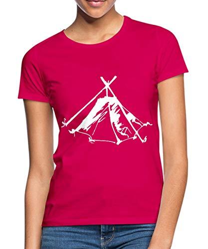 Zelt Biwak Kothe Frauen T-Shirt, M, Schwarz