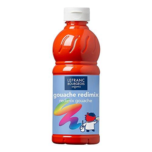 Lefranc Bourgeois - Acrylique liquide brillante Glossy pour enfants- Bouteille 500ml - Rouge vif