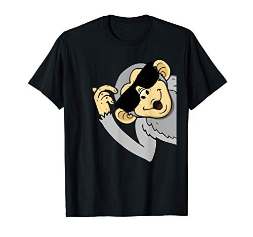 Affengesicht Lustiger Affe mit Sonnenbrille T-Shirt
