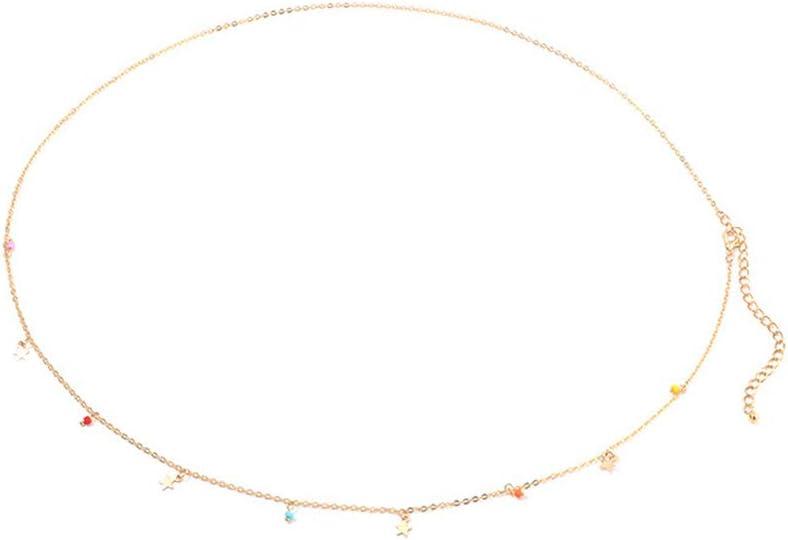 BENBOR Beads Star Pendant/Starfish Shell Tassel Pendant Beach Vacation Belly Waist Chain Belt Jewelry Graduation Gift for Women Golden