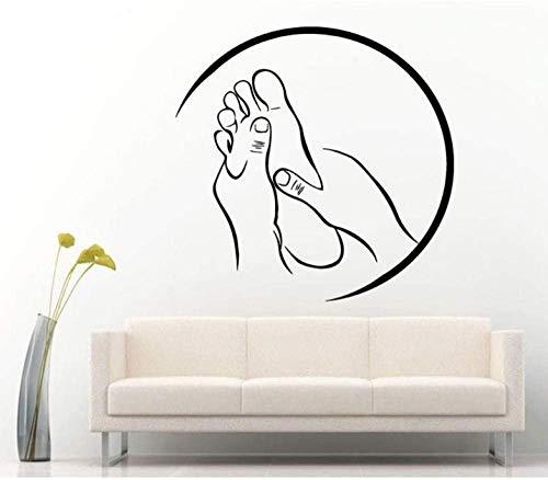 Spa Massage Zeichen Aufkleber Vinyl Aufkleber Für Salon Relax Pamper Beauty Rest Moderne Raumdekoration Aufkleber 43X42Cm