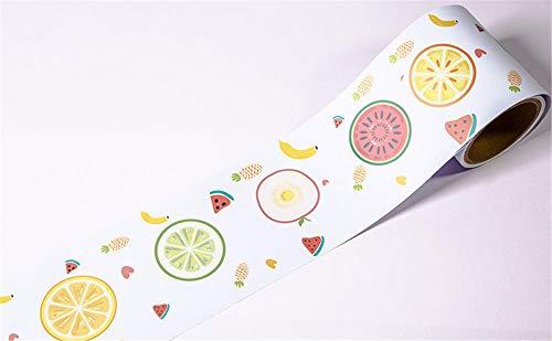 Borde del papel pintado Fruta redonda Auto Adhesivo del Papel Pintado del...