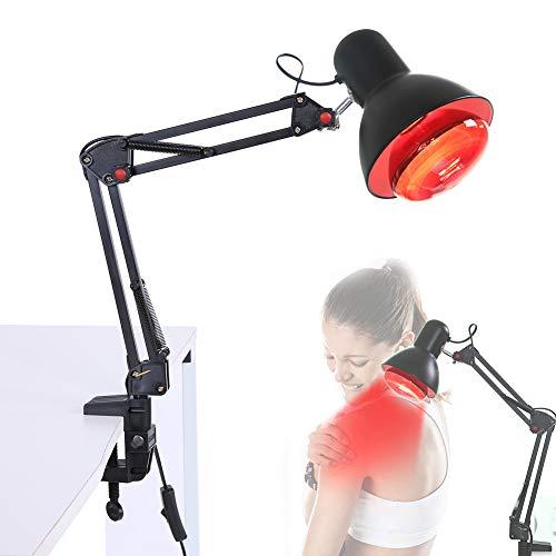 Infrarotlampe,einstellbar Infrarot Wärme Heizungs Schmerzlinderung für Relief-Rücken-Muskelschmerzen,Infrarot Wärmepflege Lampe, (EU-Stecker)