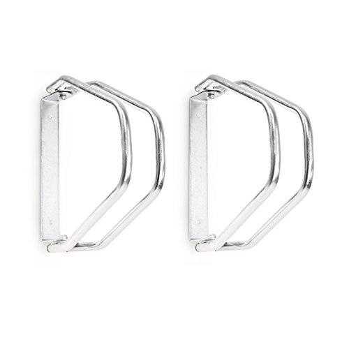 2 x Fahrradständer im Set, Wandparker als Einzelständer, zur Wandmontage, verstellbar, HBT 32,5 x 9 x 28,5 cm, silber