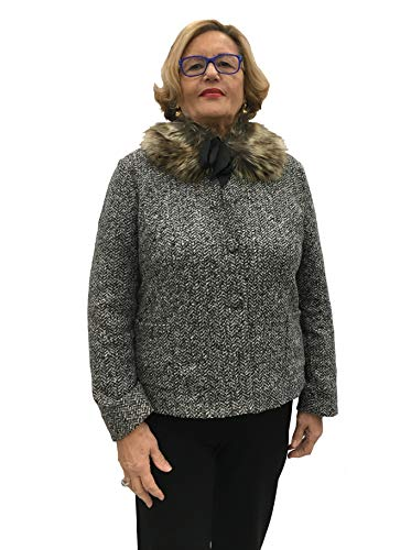 Carla Ferroni Damen Mantel Grau grau, Grau XX-Large