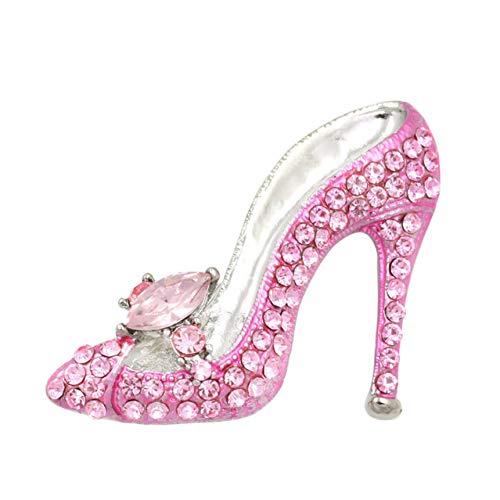 RelaxLife Broche de estrás para mujer, bailar, labios, tacones altos, rosa, estrella de mar, diferentes moda, sexy, broche