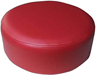 Bar Stool Cover Replacement Staple On Seat Top Made with Heavy Duty Commercial Grade Vinyl (15 inch Diameter, Red)