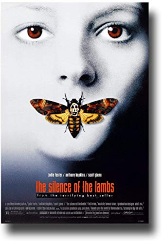 Silence of The Lambs Poster Movie 12 x 18 inch Jodie Foster Anthony Hopkins Scott Glenn Ted Levine Print Frameless Art Gift 30.5 x 46 cm