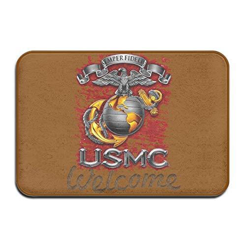 xinfub USMC Semper Fidelis Super Absorbent Anti-Slip Mat Indoor/Outdoor Decor Rug Doormat 23.6(L) X15.7(W) Inch Floor Mats Cool 961