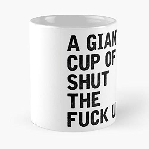 Taza de café gigante de té blanco oscuro desayuno negro mejor taza de café de cerámica de 11 onzas comer comida morder John Best 11 oz taza de café de cerámica
