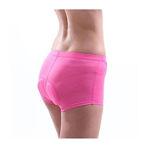 Xcellent Global Garniture de Silicone 3D Professinal perméabilité de l'air élevée Faire du vélo/équestre Pantalon Court sous-vêtements Shorts S/M/L/XL Taille Disponible pour Femme M-FS015L