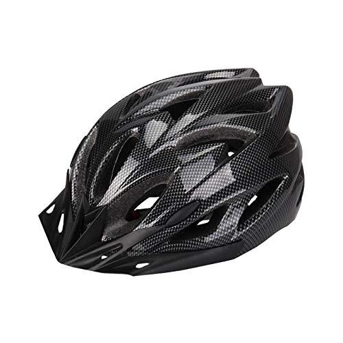 Bradoner Casco de bicicleta de montaña para adultos, casco de ciclismo, scooter, casco de equitación, circunferencia de cabeza ajustable de 53 a 64 cm (color: negro)