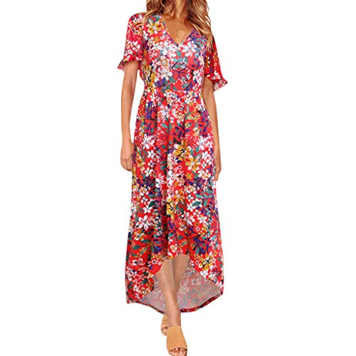 HROIJSL Dames Mouwloze Jurk Vrouwen Zomer Jurken Losse Oversized Tuniek Off-Shoulder Print Rok Plus Size Sundress Vest Tops voor Dames