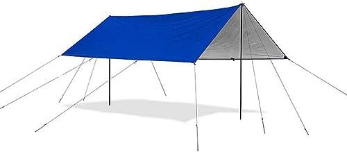 Bache Tente Extérieur, Tapis de sol Hamac Tente de mouche de pluie Empreinte de tente Bache de toit Bache de prougeection Abri de soleil, Abri de preuve de pluie Abri de tente Mutil-fonctionnel, 3  4 personnes