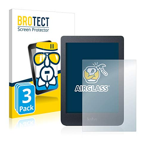 BROTECT Glas Screenprotector compatibel met Kobo Nia (3 Stuks) – Beschermglas met 9H hardheid