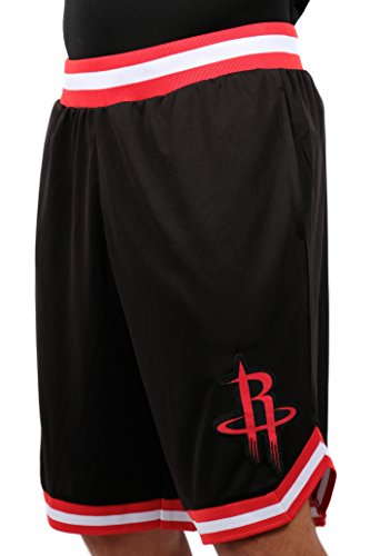 NBA Herren Mesh Basketball Shorts Woven Active Basic, Team Logo schwarz, Herren, GSM3547F, schwarz, Medium