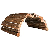 Natural bridge for guinea pigs and rabbits Made from real beech wood High quality design Real eye-catcher A place to hide and to add decoration to your cage Good value High quality design