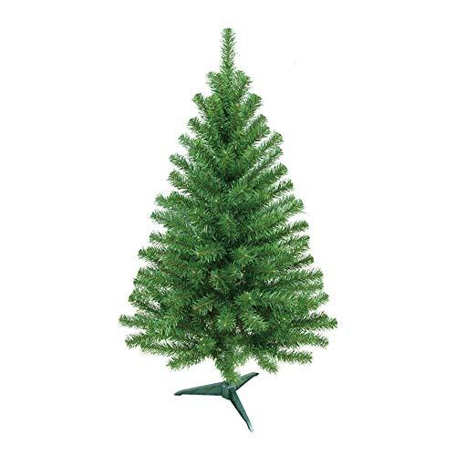 HENGMEI PVC Weihnachtsbaum Tannenbaum Christbaum Grün künstlicher mit ständer ca. 80 Spitzen Lena Weihnachtsdeko (Grün PVC, 90cm)