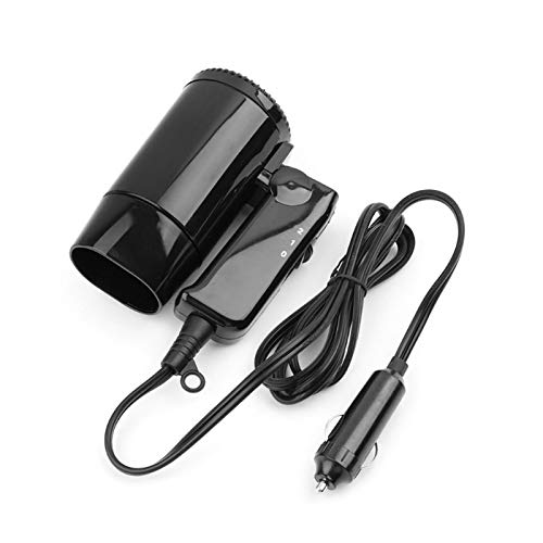 CHENJIAO Car Heater Portable 12V and Cold Folding Camping Travel Car Dryer Hair Dryer Window Defroster Cigarette Lighter Plug Qiang