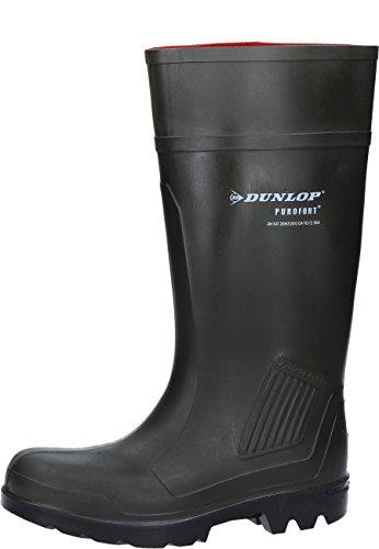 Dunlop D460933 PUROFORT GROEN 42, Unisex-Erwachsene Langschaft Gummistiefel, Grün (Grün(Groen) 08), 42 EU