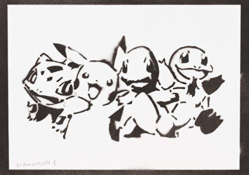 Pokemon Poster Plakat Handmade Graffiti Street Art - Artwork