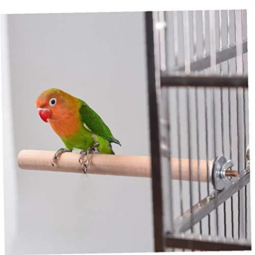 AYRSJCL 1PC 1.5x10cm Loro para Animales de compañía Madera Soporte Colgante Estante del Juguete Plataforma de Madera Periquito Rama Perchas Accesorios de Aves de Jaula de pájaro