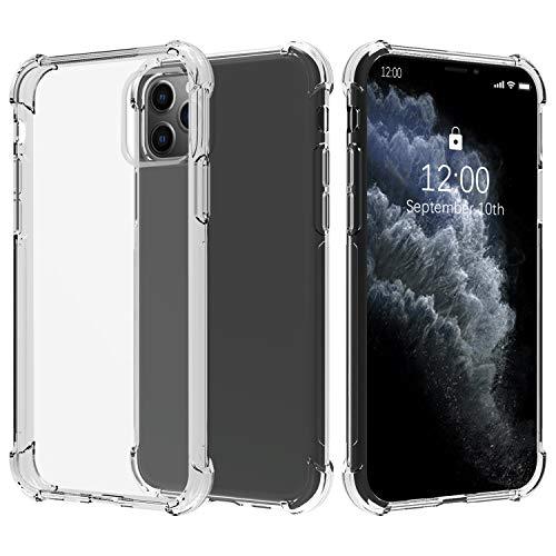 Migeec Cover per iPhone 11 PRO Max - Ibrido Cristallino Custodia Cuscino d Aria Tecnologia paraurti in Gel Custodie telefoniche a Protezione Completa per iPhone 11 PRO Max