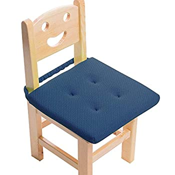 Baibu Kids  Chair Pads Super Breathable and Portable Sandwich Mesh Fabric Square Seat Cushion with Washable Foam for Office/Vehicles/Home - Only Chair Pad  12 x12  Blue