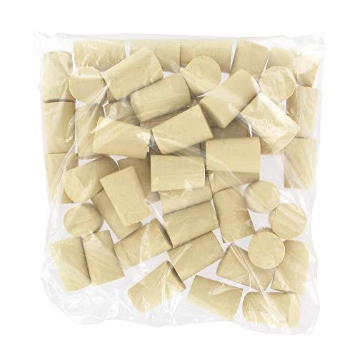 Fackelmann 005000 Lot de 50 bouchons en liège coniques, 50 bouchons de liège, bouchons pour bouteilles de vin, Liège, Beige, 3,3 x 2,1 cm