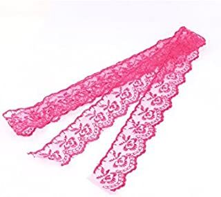 DealMux Embroidered Net Lace Trim Ribbon 4.5cm Width 1M 3.3Ft Long Fuchsia