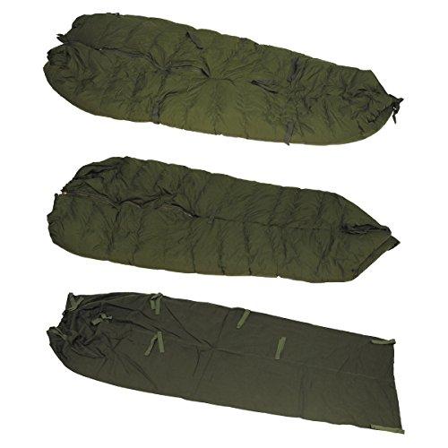 Bundeswehr Fernspäh Schlafsack 5-teilig oliv neuwertig Bundeswehrschlafsack