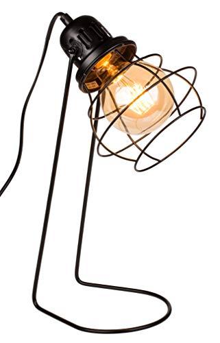 Lámpara de escritorio de metal negro estilo industrial E14, 42 cm aprox.