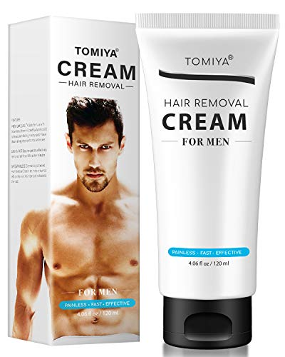 Premium Hair Removal Cream For Men - Painless Hair Removal for Men - Skin Friendly & Fast & Effective - Smoothing Depilatory Cream For Unwanted Male Body Hair